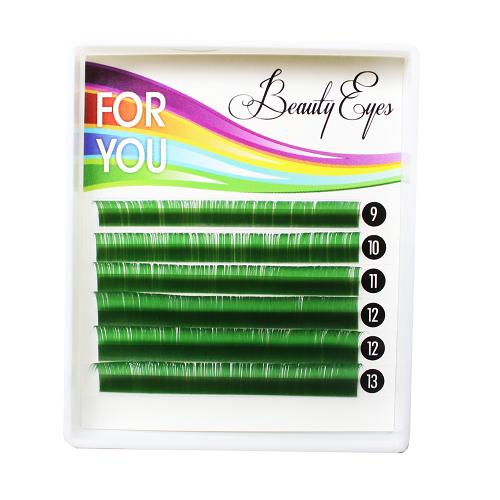 Ресницы For You Standart зеленые микс 9-13мм. Ресницы Минск купить. официальный магазин Beauty Eyes